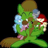 All The Kimmy Art OCs Gets a Hug by KimmyArtMLP