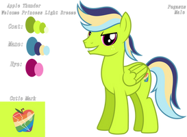 Apple Thunder (Color Guide) by KimmyArtMLP