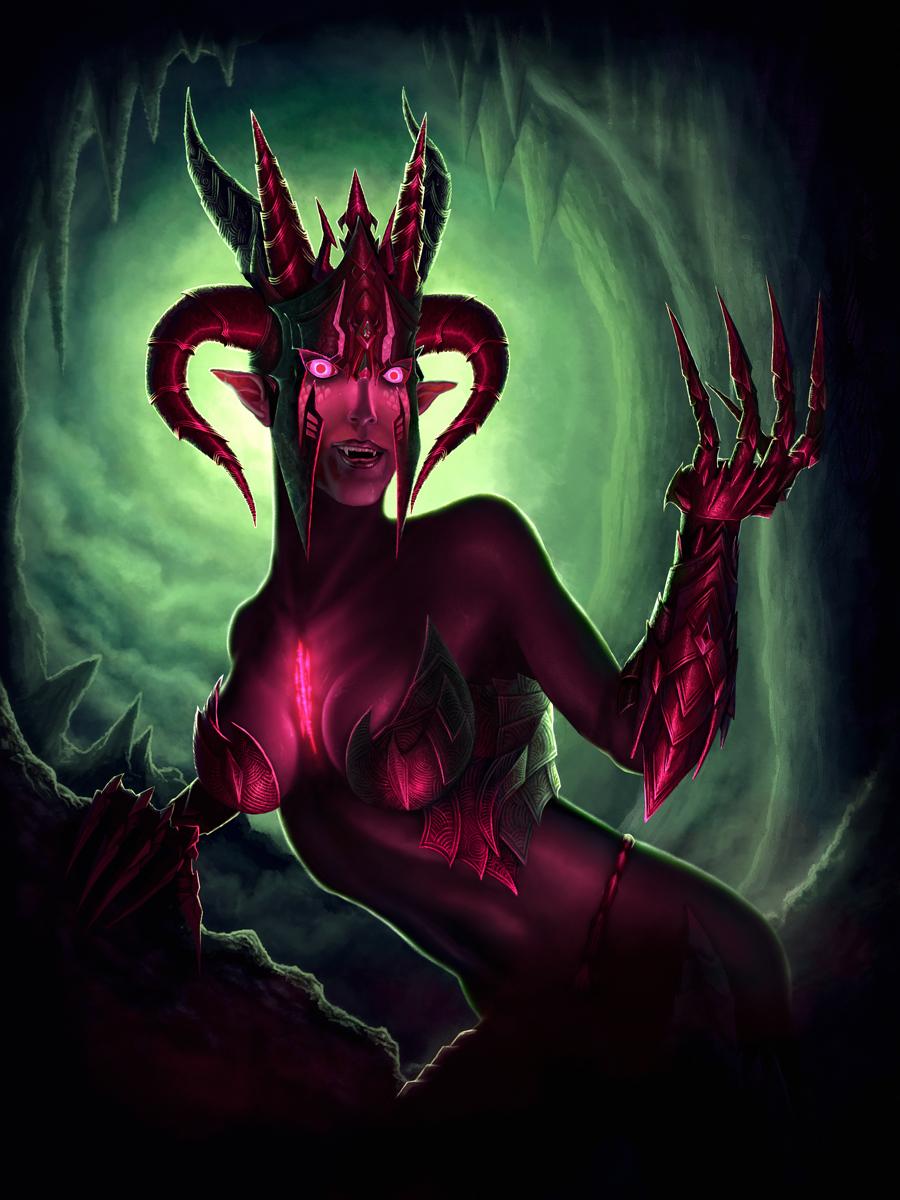 Dragon lady (not transformed) by IgorIvArt on DeviantArt