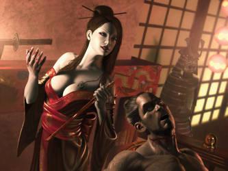 Scorpion clan geisha assasin by IgorIvArt