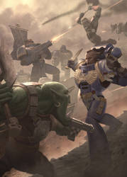 Warhammer 40000 Ork vs Ultramarine 1.0.