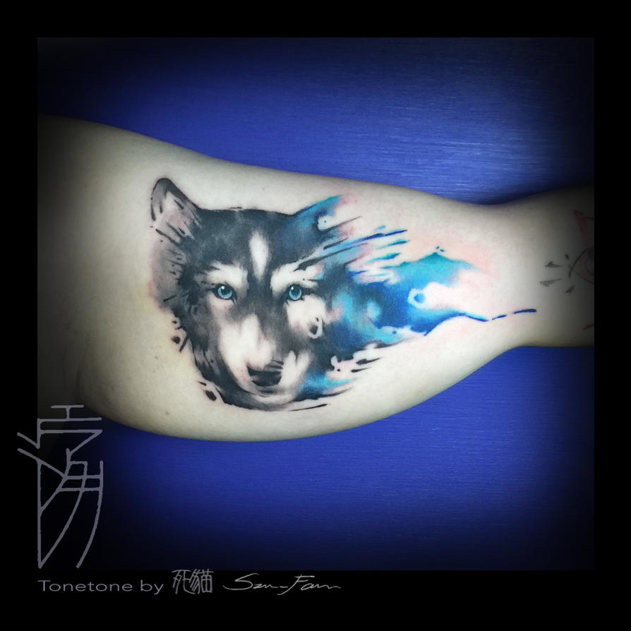 Husky watercolor tattoo by sakura1690 on deviantart for Tattoo shop etiquette