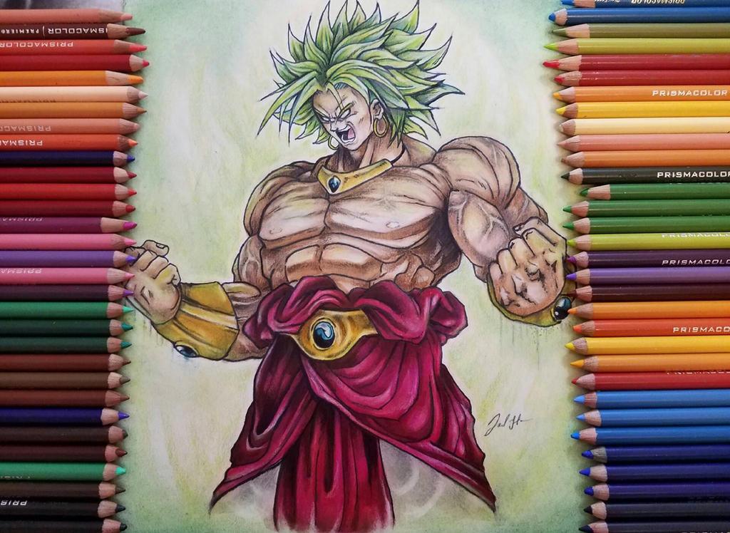 Majin Broly The Legendary Super Saiyan By Draw Dai DrawDailywithTaz