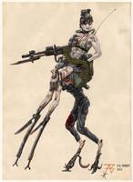 'Hunchback' Recon Zombot by plushman