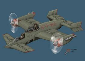 Perkuno: Dual Rotary Engine Mercenary Bomber by plushman