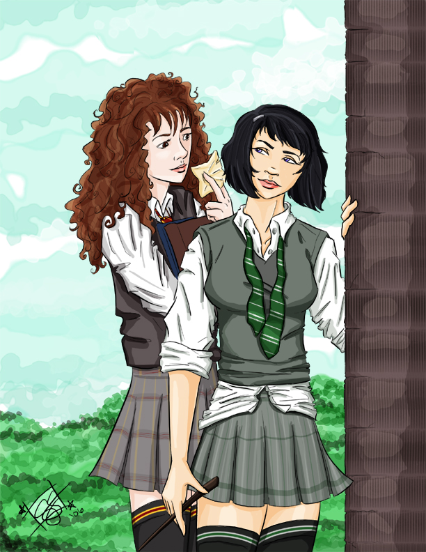 pansy and hermione by cathybytes on deviantart
