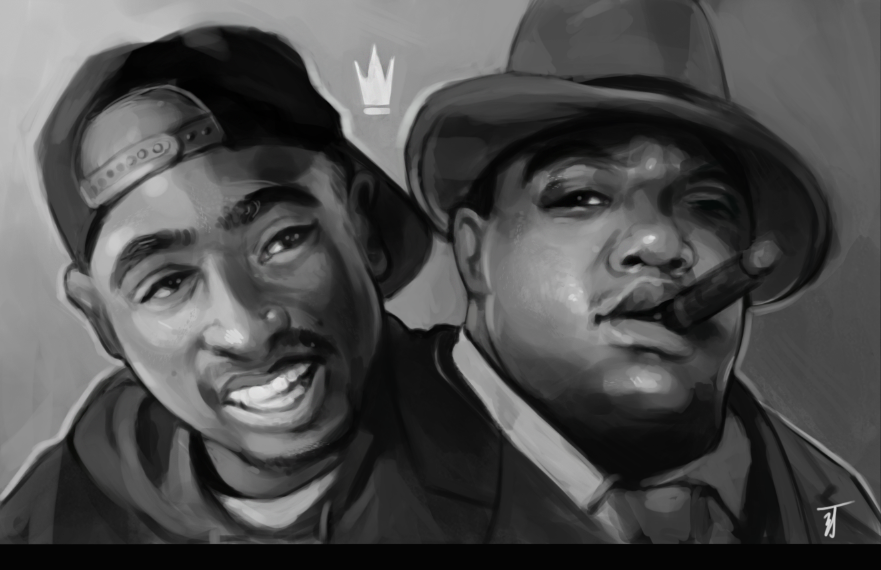 Tupac and Biggie by Nothingbutzack on DeviantArt