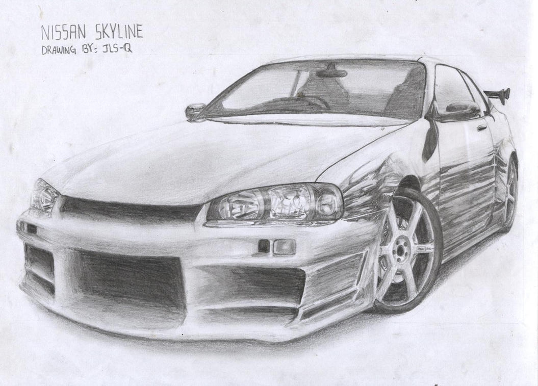Nissan Skyline Sketch Nissan Skyline Drawing by
