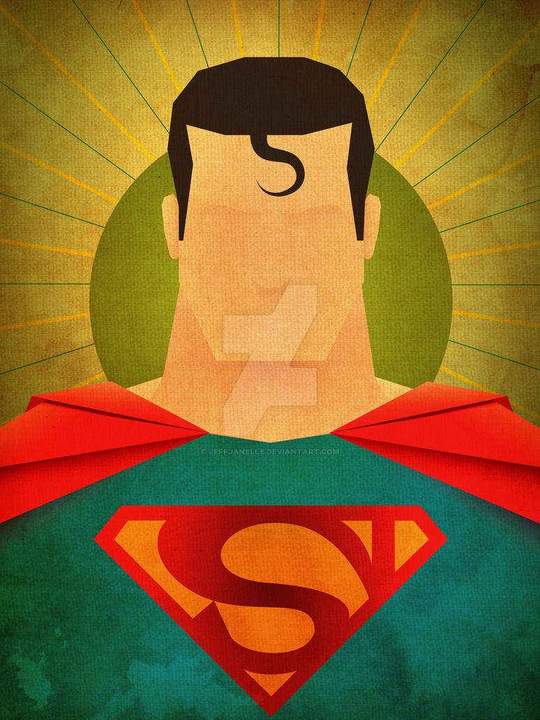 Minimalist heroes superman by jeffjanelle on deviantart for Minimal art hero