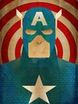 Minimalist Hereos: Captain America