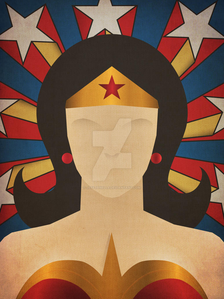 Minimalist heroes wonder woman by jeffjanelle on deviantart for Minimal art hero
