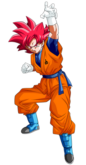 Goku Super Saiyajin Dios Render 2  Alt 1  By Ssjro