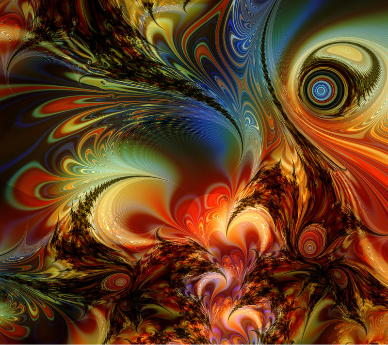 Secret Life of a Fractal by titiavanbeugen