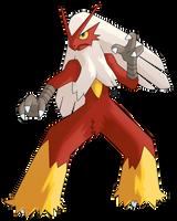 Pokemon: Shiny Blaziken by Kidel