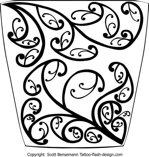 Maori Tattoo Designs Wallpaper: Maori Koru 1 Tattoo Flash By Spunkymonkey On DeviantArt