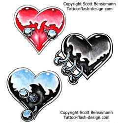 pierced heart by spunkymonkey