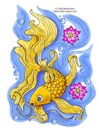 koi tattoo by spunkymonkey