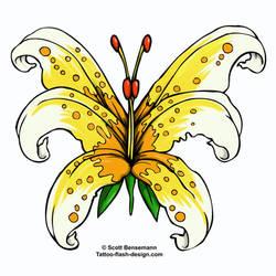 butterfly flower by spunkymonkey