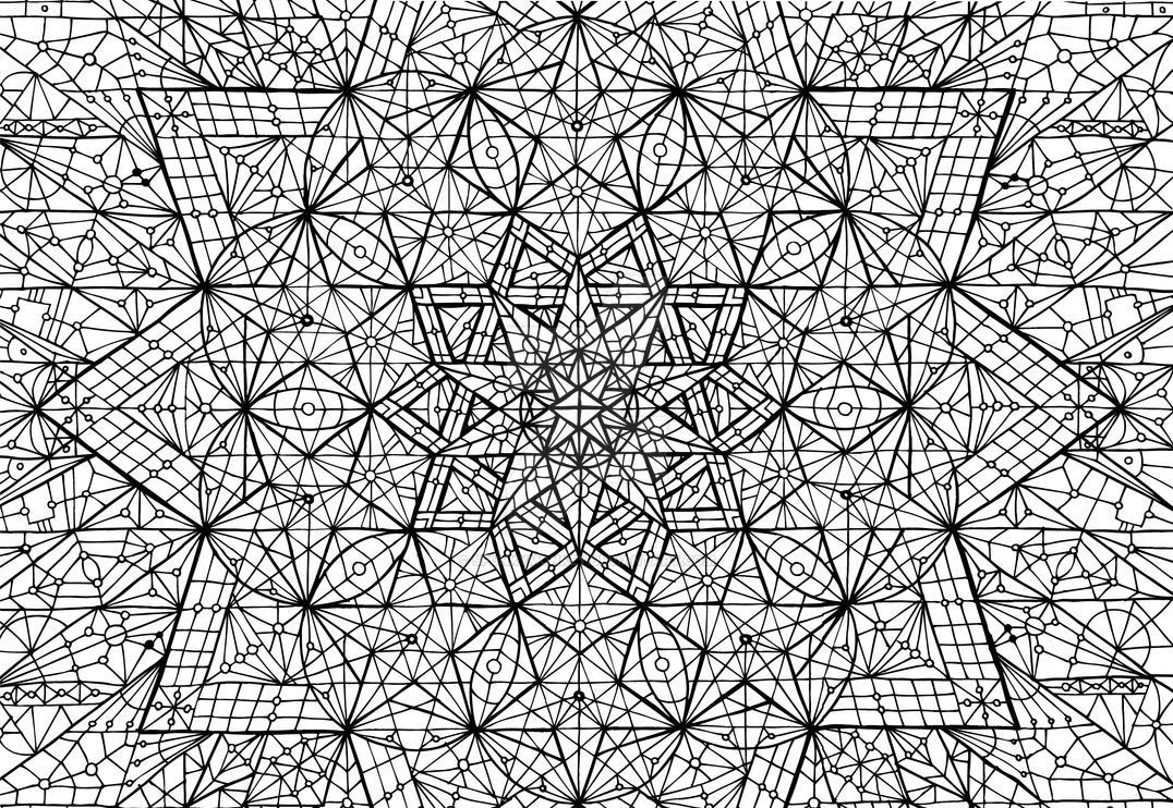 meditation mandala pentacle couple sacred geometry by spunkymonkey