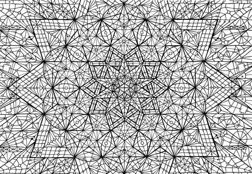 meditation mandala pentacle couple sacred geometry