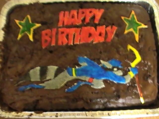 Sly Cooper Birthday Cake