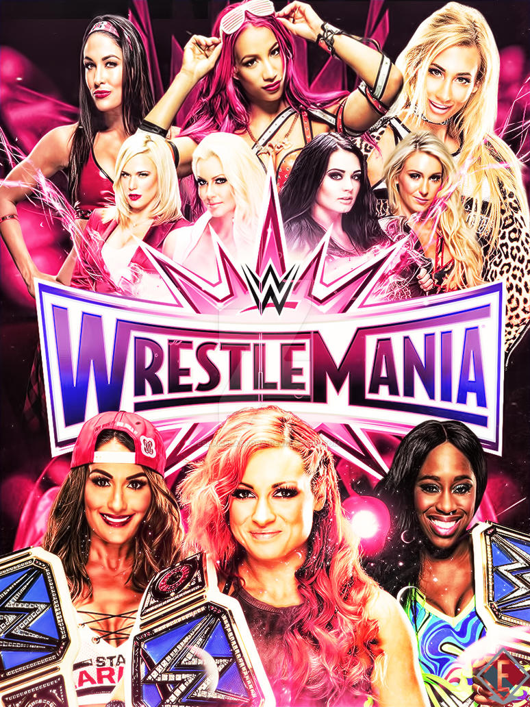 WrestleMania 33 Poster by ESLAMELASTORA