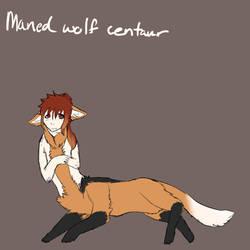 Maned Wolf Centaur by sunlitmad