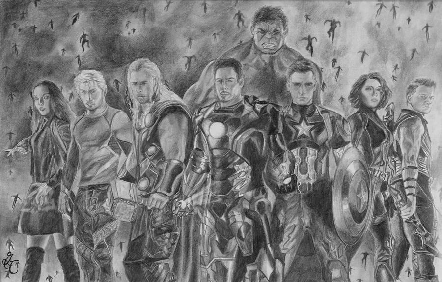 Avenger Age Of Ultron Sketch: Avengers: Age Of Ultron By GabrielleCarlson On DeviantArt