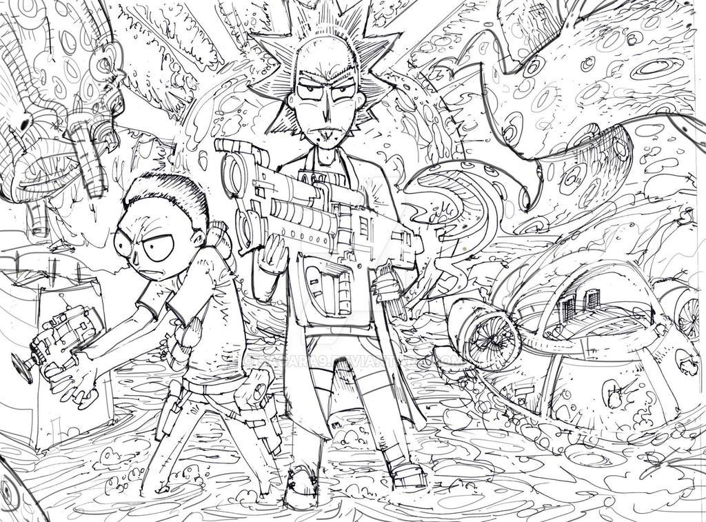 Rick and Morty by SACARA9