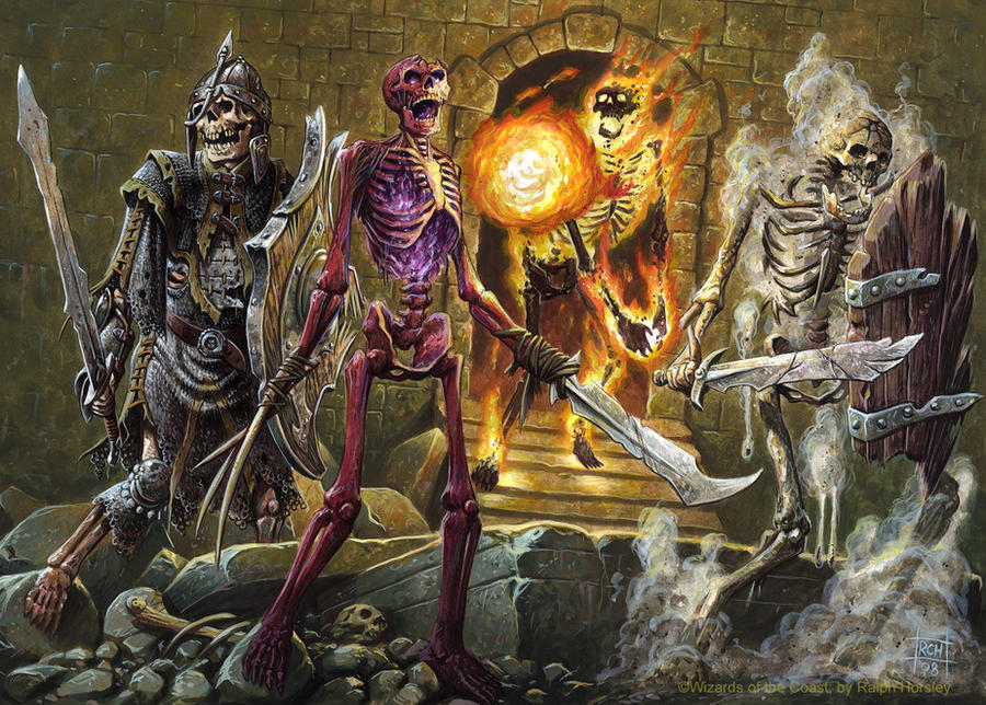 4e DnD: Skeletons by RalphHorsley