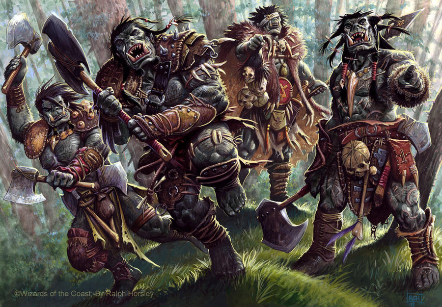 4e DnD Orcs by RalphHorsley