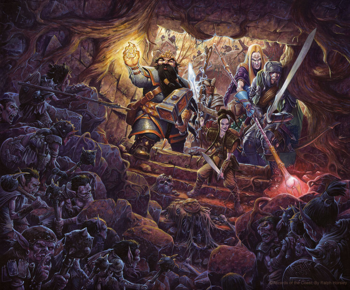 Your phrase fantasy art dungeons and dragons