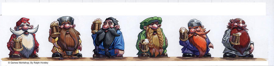 Binge-Ho - Dwarf counters by RalphHorsley