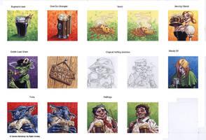 Binge-Ho, Characters by RalphHorsley