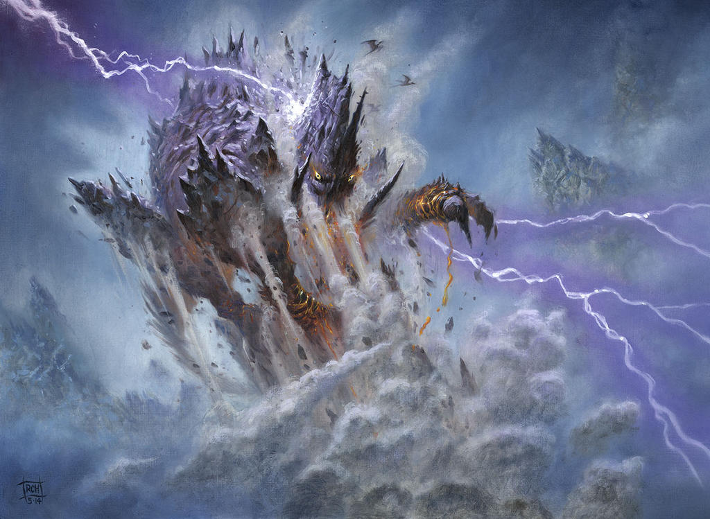 Stormcrag Elemental by RalphHorsley