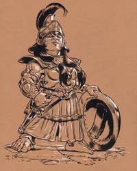 Grecian Dwarf Hero illustrious