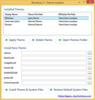 Windows 7+ Theme Installer by Kishan-Bagaria