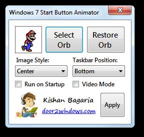 Win 7 Start Button Animator by Kishan-Bagaria