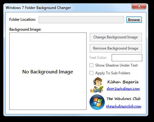 Windows 7 Folder Background Changer by Kishan-Bagaria