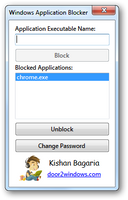 Windows Application Blocker by Kishan-Bagaria