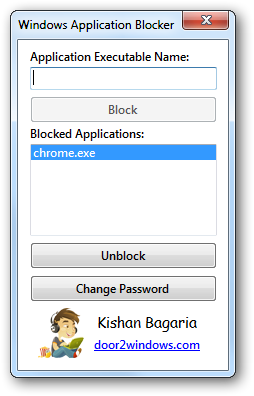 Windows Application Blocker