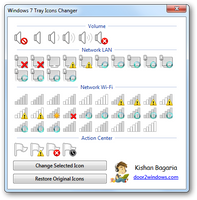 Windows 7 Tray Icons Changer by Kishan-Bagaria
