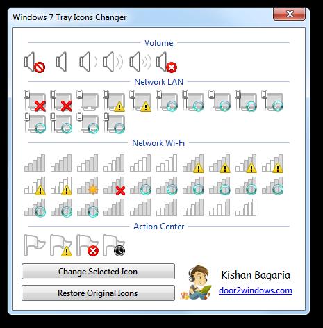 Windows 7 Tray Icons Changer by Kishan-Bagaria