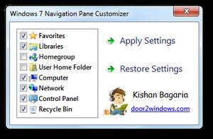 Windows 7 Nav Pane Customizer