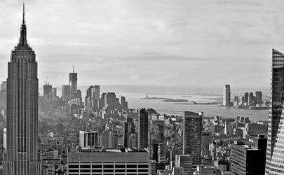 Empire State and Manhattan by AlanSmithers