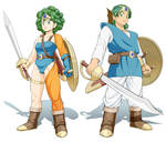 Dragon Quest 4 Hero and Heroin