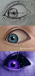 Eye digital painting by AlyssaArtsLover