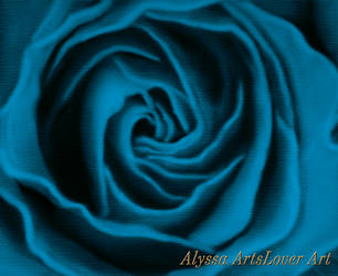 Rose painting/blue edition by AlyssaArtsLover