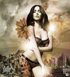 Abstract Model 3# (Megan Fox) by clgraphics