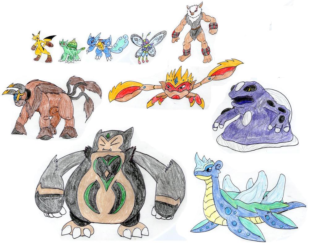 Ashs Mega Evolution Team Kanto By MegaloRex On DeviantArt